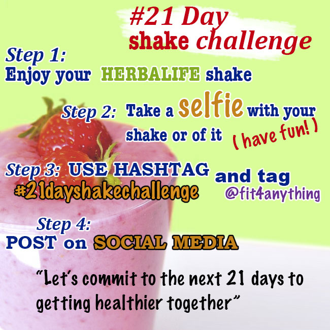 21ShakeChallenge - Fit4Anything